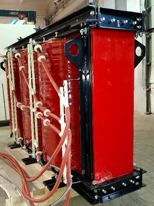Część aktywna transformatora górniczego TTZG 2600/6 przeznaczonego do obudowy IP54